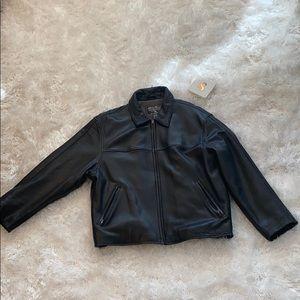 Eddie Bauer Men Leather Jacket